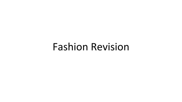 Preview of Textiles Revision