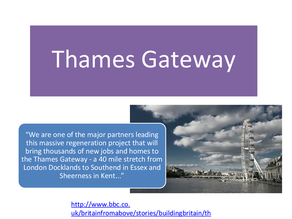 Preview of Thames Gateway Sustaiable Cities