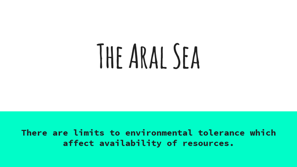 Preview of The Aral sea