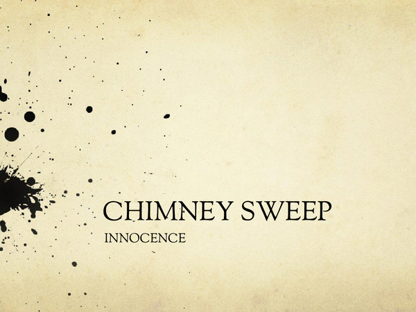 Preview of The Chimney Sweep Innocence