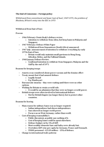 Preview of the end of Consensus - Foreign Policy (Modern Britain AQA complete notes 7/16)