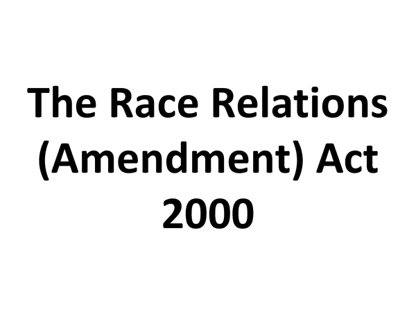 Preview of The Race Relations Act 2000 - Promoting Quality Care