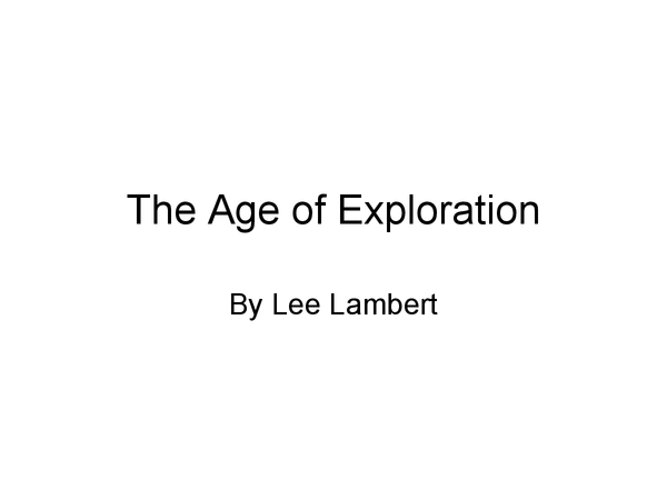 Preview of The Age of Exploration