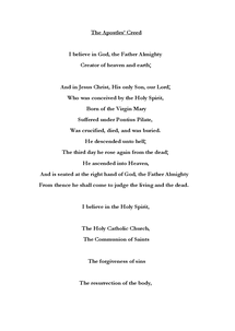 Preview of The Apostles' Creed