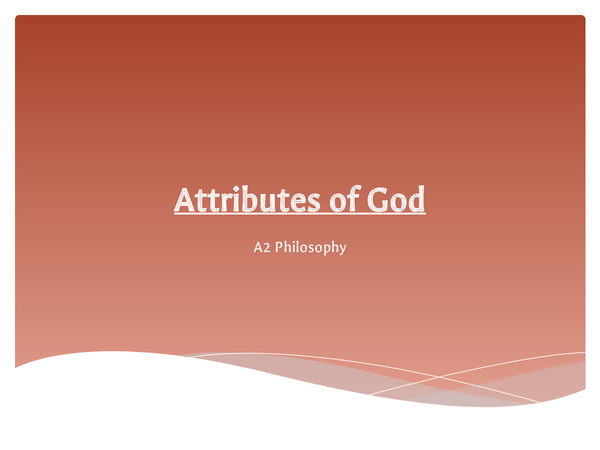 Preview of The Attributes of God