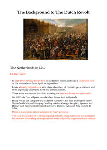 Preview of The Background to the Dutch Revolt