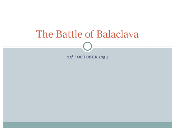 Preview of The Battle of Balaclava