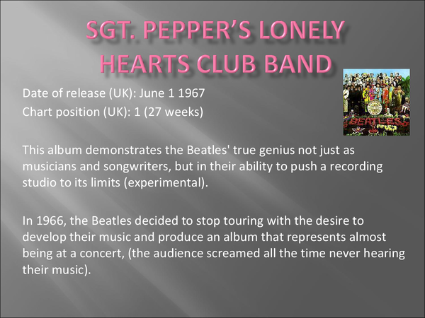 Preview of The Beatles - Sgt. Pepper's Lonely Hearts Club Band