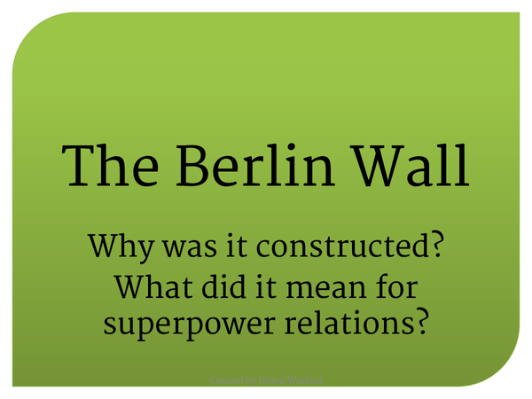 Preview of The Berlin Wall