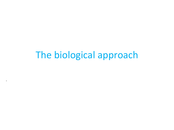 Preview of WJEC PSY1 The Biological Approach