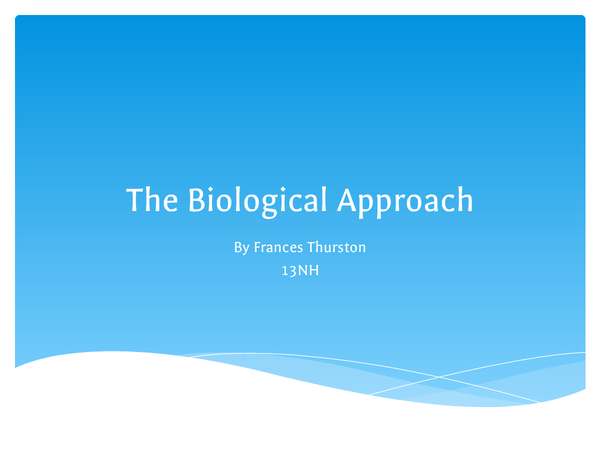 Preview of The Biological approach Unit 4
