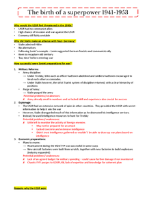 Preview of The Birth of a Superpower: Detailed Revision Notes