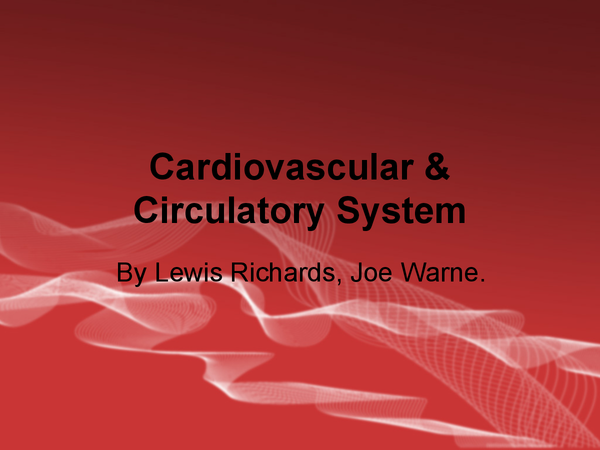 Preview of The Cardiovascular, Circulatory, & Respiratory system