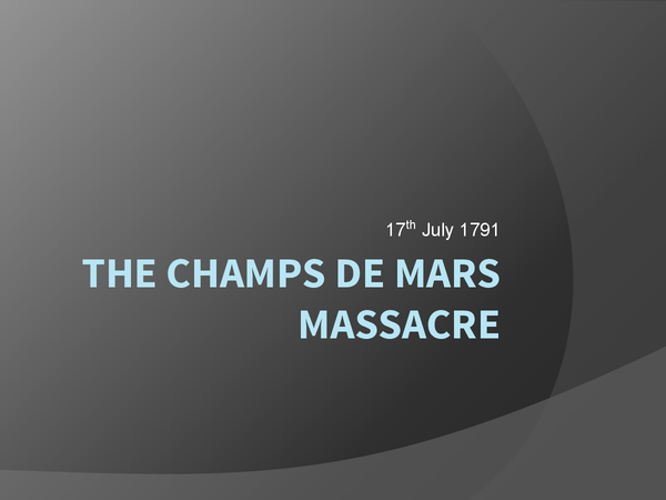 Preview of the champs de mars massacre