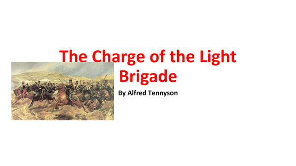 Preview of The Charge of the Light Brigade Analysis
