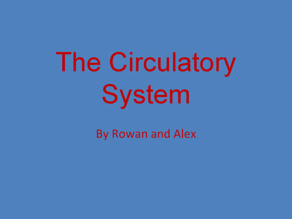 Preview of The Circulatory System