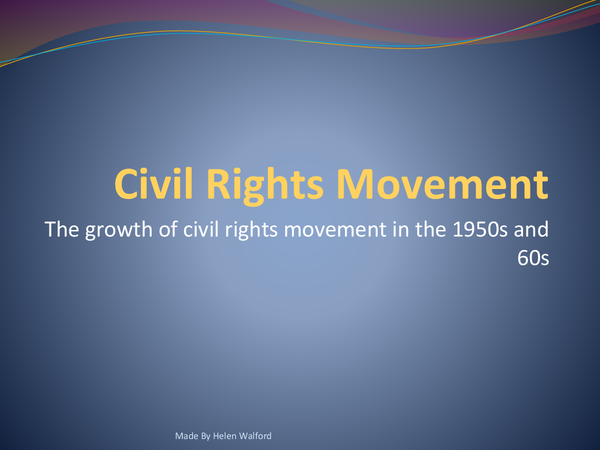 Preview of The Civil Rights Movement