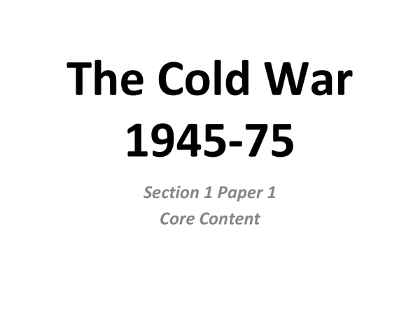 Preview of The Cold War, Cuban Missile Crisis and Vietnam Notes