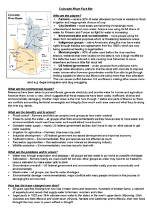 Preview of The Colorado River - water conflicts