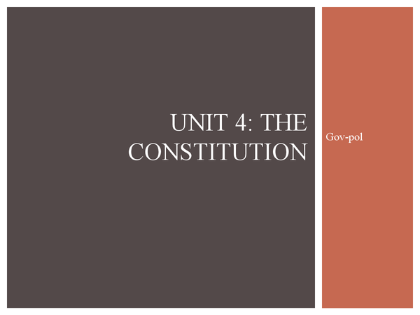 Preview of The constitution