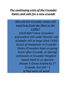 Preview of The Continuing Crisis of the Crusader States and Calls for a New Crusade