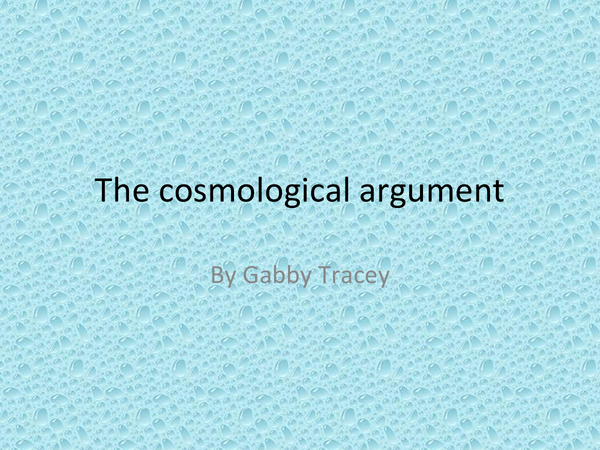 Preview of The cosmological argument