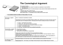 Preview of The Cosmological Argument - the Key points