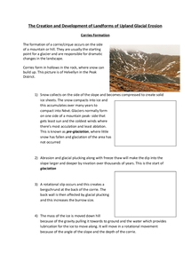 Preview of The Creation and Development of Landforms of Upland Glacial Erosion