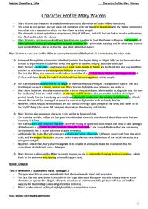 mary warren character analysis essay