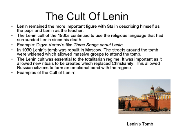Preview of the cult of lenin