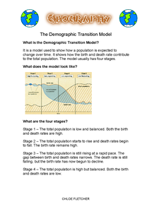 Preview of The Demographic Transition Model Part One