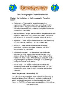 Preview of The Demographic Transition Model Part Three