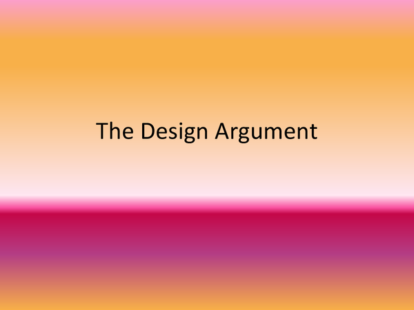 Preview of The Design Argument
