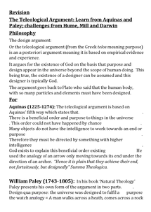 Preview of The Design (Teleological) Argument