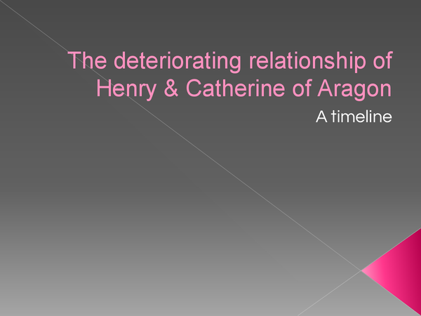 Preview of the deteriorating relationship of henry & catherine of aragon