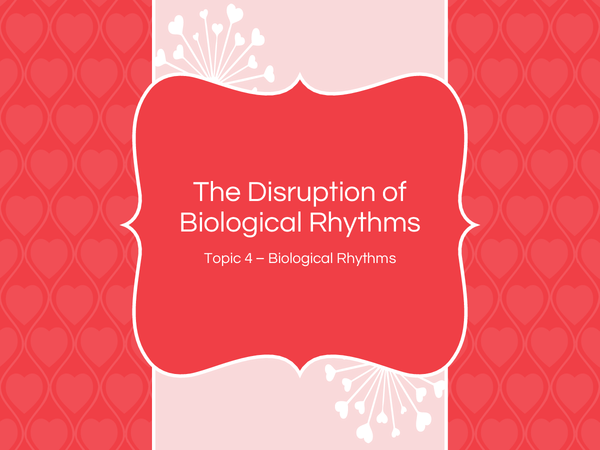 Preview of The disruption of biological rhythms