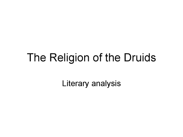 Preview of The Druids: Their religion questions