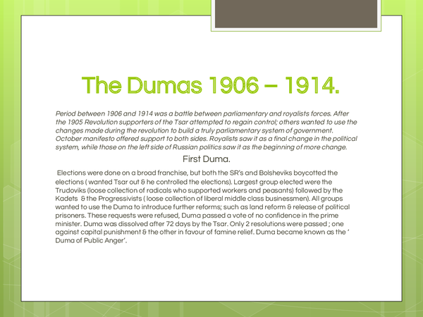 Preview of The Dumas 1906 – 1914