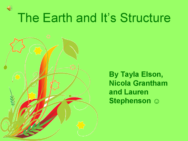 Preview of The Earth and Its Stucture Powerpoint