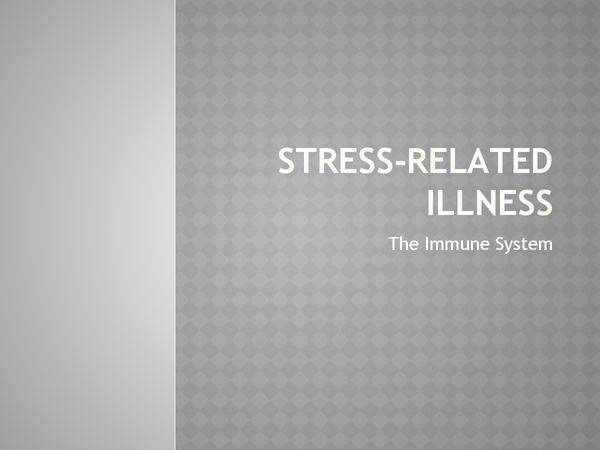 Preview of The Effect of Stress on the Immune System