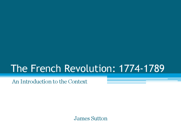 Preview of The French Revolution: Contextual Revision