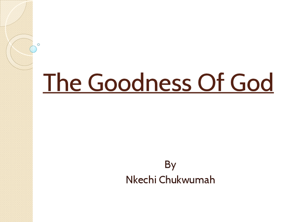 Preview of The Goodness Of God