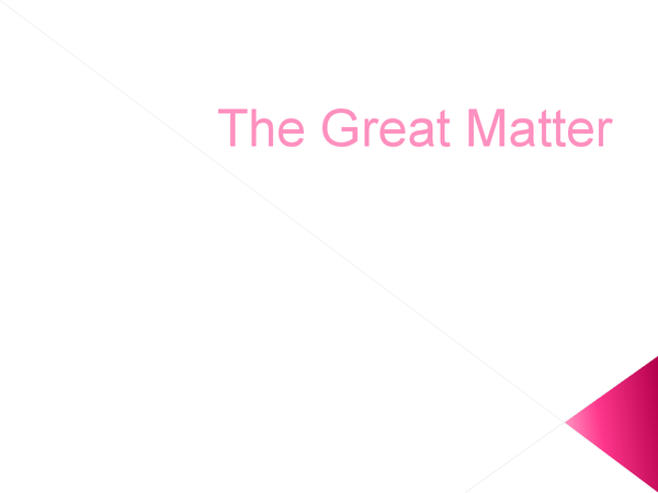 Preview of The Great Matter - Why Henry couldn't get an annulment