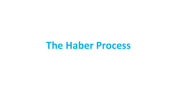 Preview of The Haber Process