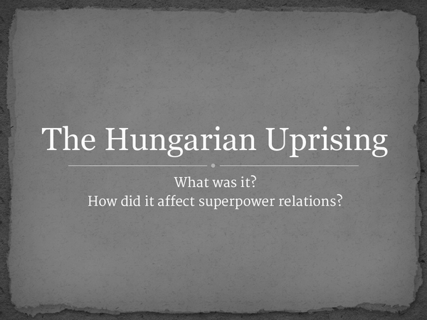 Preview of The Hungarian Uprising