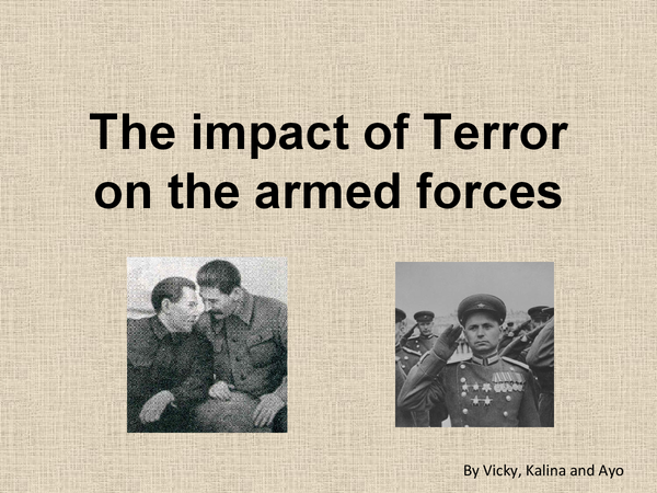 Preview of The Impact of Terror on the Armed Forces - Stalin