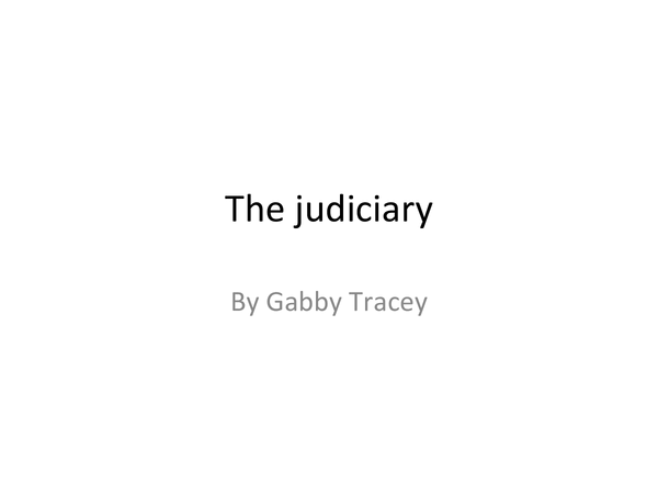 Preview of The Judiciary