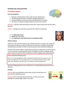 Preview of The key approaches - Psychology AQA B