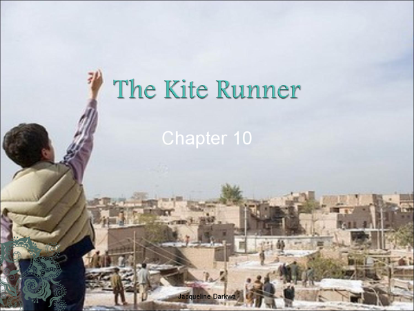 kite runner chapter 1 narrative methods Amir narrates all of the kite runner, except for a tiny chapter late in the book,  which rahim khan takes over there's no question: it makes sense that amir.