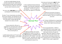 Preview of The Korean War ~ Mind Map